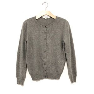 Boden Cashmere Cardigan in Grey
